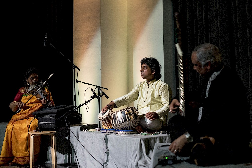 Madhuri Chattopadhyay, Ashraf Sharif Khan & Indranil Mallick   | Photo: Raisa Galofre